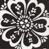 Night and Day - Bold Floral in Black and White