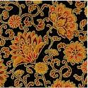Taj Mahal Style - Gilded Indian Floral on Black