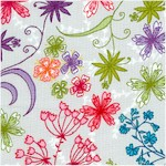 In the Bloom - Delicate Floral on White