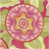 Whimseyland Colorful Floral by Lizzie B Cre8tive
