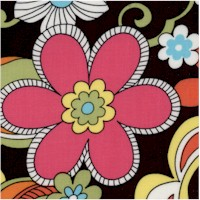 Feeling Groovy - Colorful Retro Floral on Black