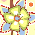 Frolic - Pretty Columbine Floral on Yellow by Wendy Slotbloom