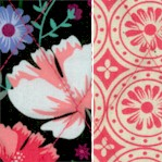 Reversible Quilted Garden Bloom - SPECIAL! LTD. YARDAGE AVAILABLE (.33 YD)