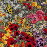 Country Quilts - Fields of Flowers and Butterflies