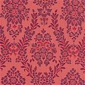 Gone With the Wind Damask in Dark Coral - SALE! (MINIMUM PURCHASE 1 YARD)