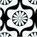 Heart Garden - Retro Daisy Design in Black and White