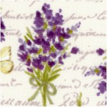 Sweet Lavender - Tossed Bouquets on Ivory by Sue Zipkin