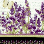 Sweet Lavender - Delicate Vertical Stripe by Sue Zipkin