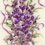Delicate Levnder Floral Vertical Stripe
