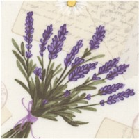 Tossed Lavender Bunches, Daisies, Bees and Postcards
