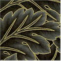 Garden Elegance - Gilded Foliage in Charcoal