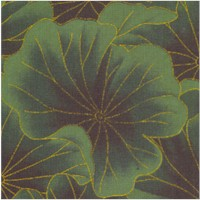Gilded Lotus Leaves in Emerald Green