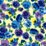 Pansy Paradise - Delicate Small Scale Pansies by Chong-a Hwong