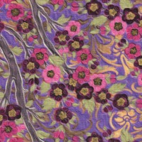 Pastiche - Cherry Blossoms in Pink and Purple