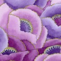 Fetes des Fleurs - Packed Gilded Poppies in Purple