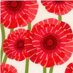 Poppy Love - Bright Poppies on Cream