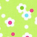 Pocketful of Posies - Retro Floral on Lime Green