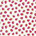 Little Buds - Petite Rosebuds on Ivory
