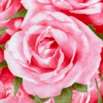 Bed of Roses - Real Pink Roses- LTD. YARDAGE AVAILABLE IN 2 PIECES