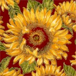 Shades of the Season - Gilded Sunflowers by Judy Nard