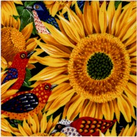 Sunny Side Up - Sunflowers and Birds