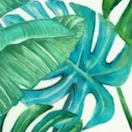 Hummingbird Haven - Leaf on Ivory (Digital)