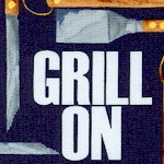 Grill On - Tossed Grilling Equipment on Navy