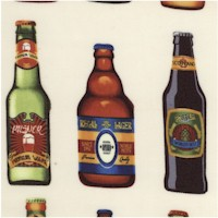 Cheers - Rows of Bottled Beer on Cream