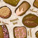 Chocolat - Tossed  Gourmet Chocolates on Textured Beige