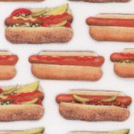 Chow Time - Small Scale Hot Dogs in Buns by Mary Lake-Thompson