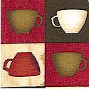 Espresso Yourself! Coffee Cup Checkerboard