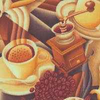 Coffee Talk - Art Deco Style Coffee Collage