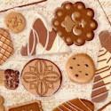Biscotti - Tossed Cookie Jars on Beige