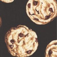 Tossed Chocolate Chip Cookies on Black