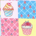 Sweet Cakes - Cupcake Checkerboard by Ro Gregg