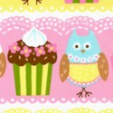 Cherry on Top - Owl and Cupcake Stripe