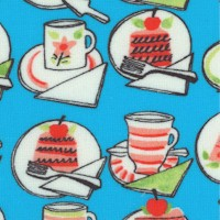 Just Desserts - Small Scale Retro Goodies on Turquoise