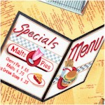 Today�s Special - Tossed Retro Diner Menus and Order Pads