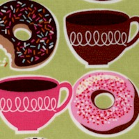 Yummy - Coffee and Donuts on Green