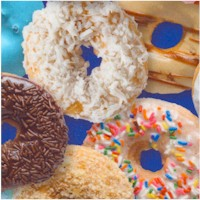 This & That III - Delish Donuts on Blue - SALE! (MINIMUM PURCHASE 1 YARD)