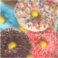 This & That III - Delish Donuts on Yellow - SALE! (MINIMUM PURCHASE 1 YARD)