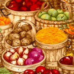 Farmer�s Harvest Baskets by Debbie Hron