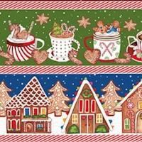 Gingerbread Factory Vertical Stripe