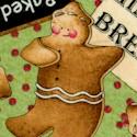 Baker's Dozen - Tossed Gingerbread Men and Bakery Signs