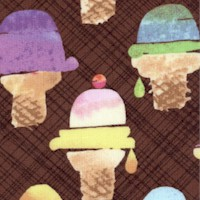 Sweet Treats - Wafer Cone on Brown by Maria Carluccio