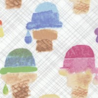 Sweet Treats - Wafer Cone on Beige by Maria Carluccio