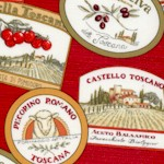Bella Toscana - Tossed Italian Food Labels on Red