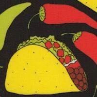 Folklorico - Taco Rico on Black