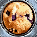 Bake Sale - Blueberry Muffins in Tins by Maria Kalinowski
