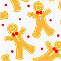 Over the River - Tossed Gingerbread Cookies by Barbara Jones of Quilt Soup